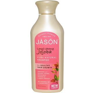 Jason Natural, Pure Natural Shampoo, Long & Strong Jojoba, 16 fl oz (473 ml)