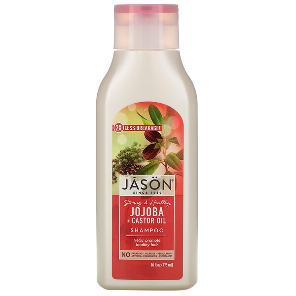 Strong & Healthy Jojoba + Castor Oil Shampoo, 16 fl oz (473 ml)