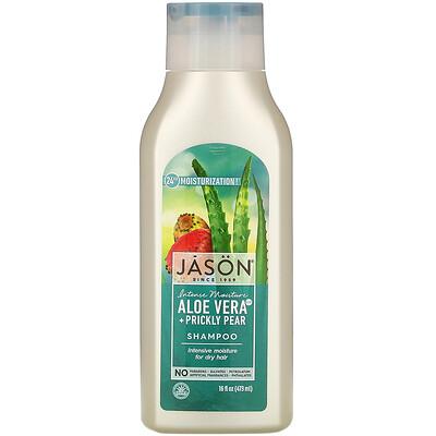 Jason Natural Intensive Moisture Shampoo, Aloe Vera + Prickly Pear, 16 fl oz (473 ml)