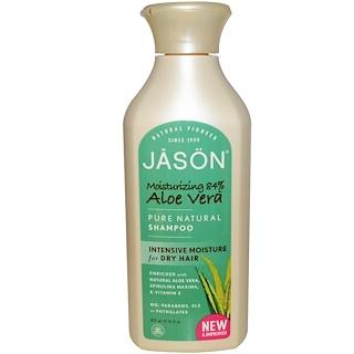 Jason Natural, Pure Natural Shampoo, Aloe Vera, 16 fl oz (473 ml)