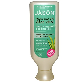Jason Natural, Pure Natural Conditioner, Aloe Vera, 16 oz (454 g)