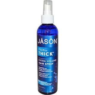 Jason Natural, Thin to Thick, Extra Volume Hair Spray, 8 fl oz (237 ml)