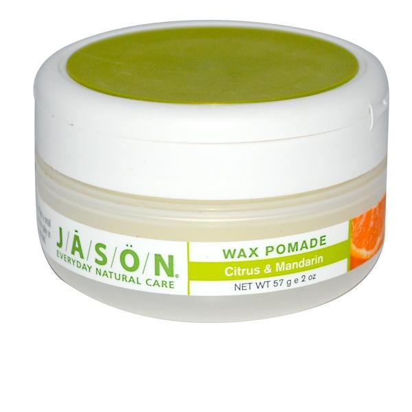 Jason Natural, Wax Pomade, Citrus & Mandarin, 2 oz (57 g) (Discontinued Item)