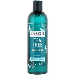 Jason Natural, 茶樹頭皮調理洗髮水,17.5 液量盎司(517 毫升)