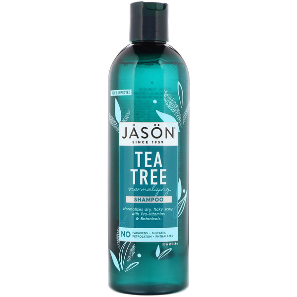 Jason Natural, Normalizing Tea Tree Shampoo, 17.5 fl oz (517 ml)