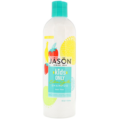 Jason Natural Kids Only, Extra Gentle Shampoo, 17.5 fl oz (517 ml)
