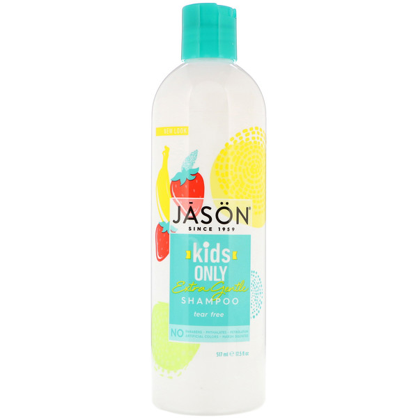 Jason Natural, Kids Only, Extra Gentle Shampoo, 17.5 fl oz (517 ml)