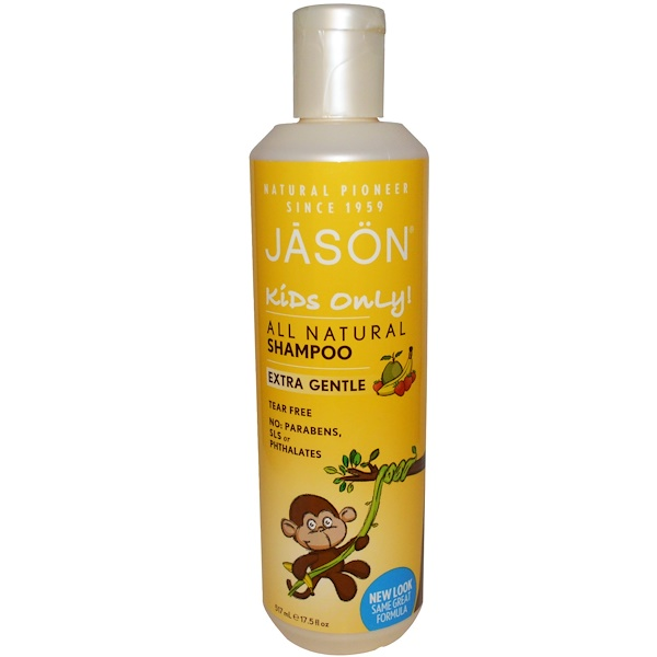 Jason Natural, Kids Only!, Extra Gentle, All Natural, Shampoo, 17.5 fl oz (517 ml)