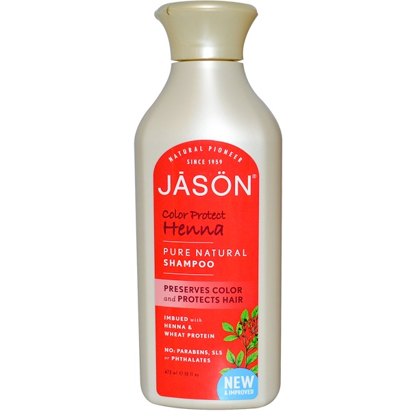 Jason Natural, Color Protect Henna Shampoo, 16 fl oz (473 ml) (Discontinued Item)