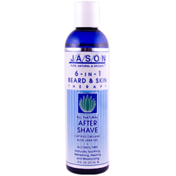 Jason Natural, 6-in-1 Beard & Skin Therapy, All Natural After Shave, 8 fl oz (237 ml) (Discontinued Item)