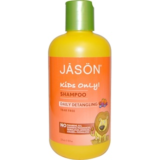 Jason Natural, Kids Only!, Shampoo, Daily Detangling, 8 fl oz (237 ml)