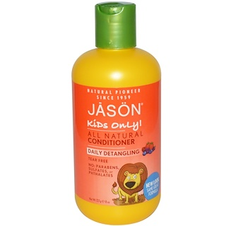 Jason Natural, Kids Only!, Daily Detangling Conditioner, 8 oz (227 g)