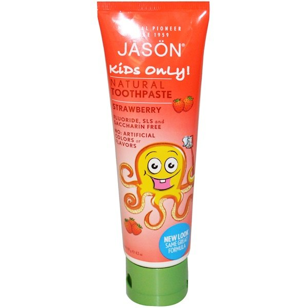 Jason Natural, Kids Only!, Natural Toothpaste, Strawberry, 4.2 oz (119 g)