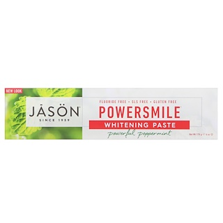 Jason Natural, PowerSmile, Whitening Paste, Powerful Peppermint, 6 oz (170 g)