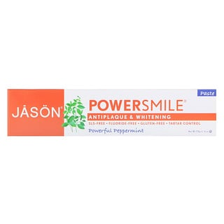Jason Natural, PowerSmile, pasta antiplaca y blanqueadora, menta potente, 6 oz (170 g)
