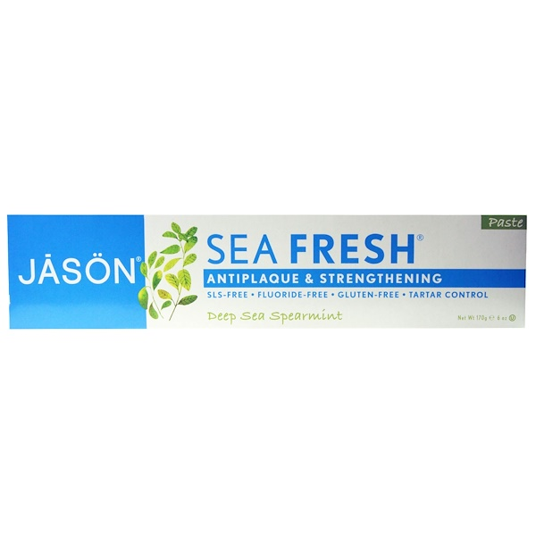 Jason Natural, Sea Fresh, Antiplaque & Strengthening Paste, Deep Sea Spearmint, 6 oz (170 g)