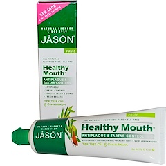 Jason Natural, Healthy Mouth, Antiplaque & Tartar Control Toothpaste, Tea Tree Oil & Cinnamon, 4.2 oz (119 g)