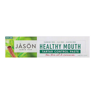 Jason Natural, Healthy Mouth, Anti-Zahnstein-Paste, Teebaumöl und Zimt, 119 g (4,2 oz)