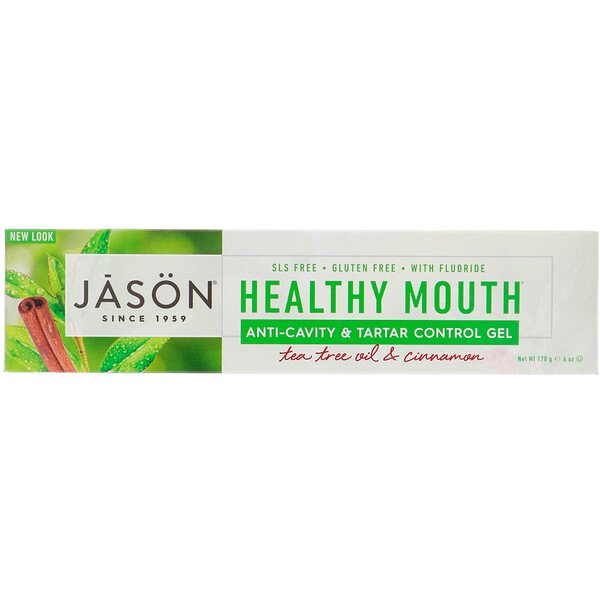 Healthy Mouth, Anti-Cavity & Tartar Control Gel, Tea Tree Oil & Cinnamon, 6 oz (170 g)
