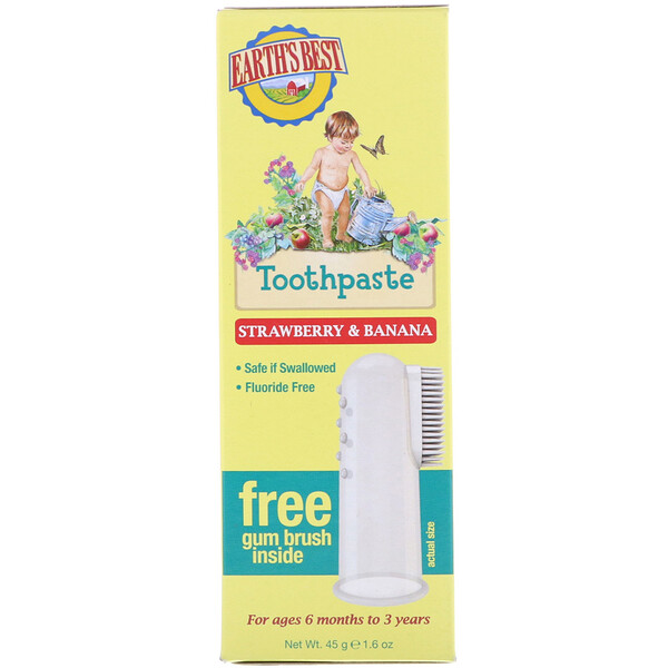 Toothpaste, Strawberry & Banana, 1.6 oz (45 g)