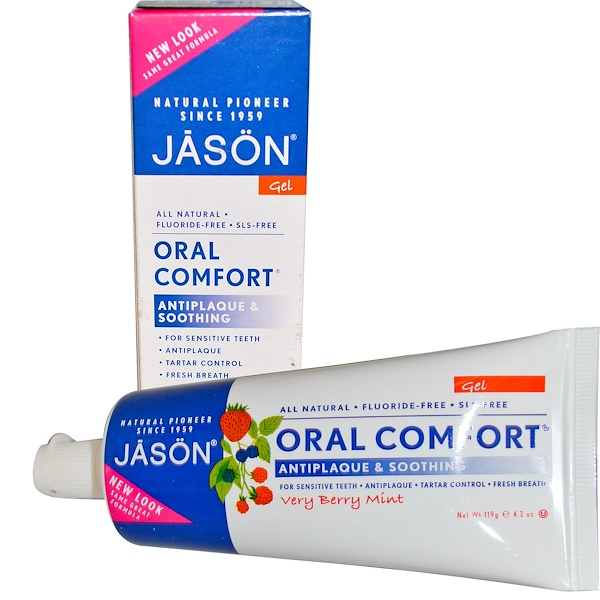 Jason Natural, Oral Comfort, Antiplaque & Soothing Tooth Gel, Very Berry Mint, 4.2 oz (119 g) (Discontinued Item)