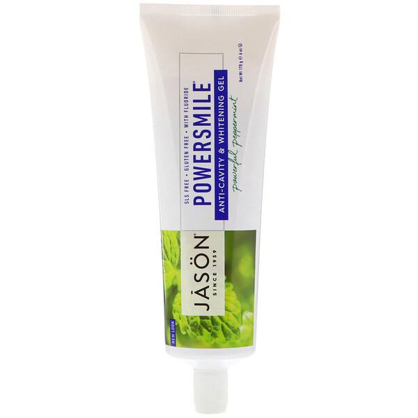 パワースマイル(PowerSmile), 虫歯予防&ホワイトニングジェル, パワフルペパーミント, 6オンス(170 g)