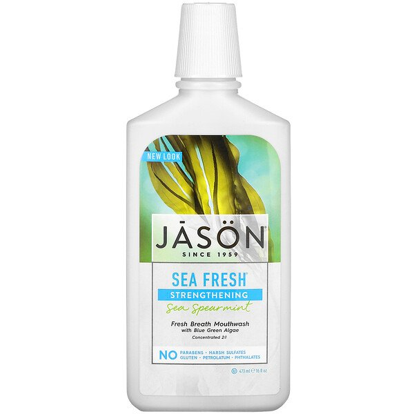 Jason Natural, Sea Fresh, Mouthwash, Sea Spearmint, 16 fl oz (473 ml) (Discontinued Item)
