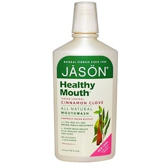 Jason Natural, Healthy Mouth, Mouthwash, Tartar Control, Cinnamon Clove, 16 fl oz (473 ml)