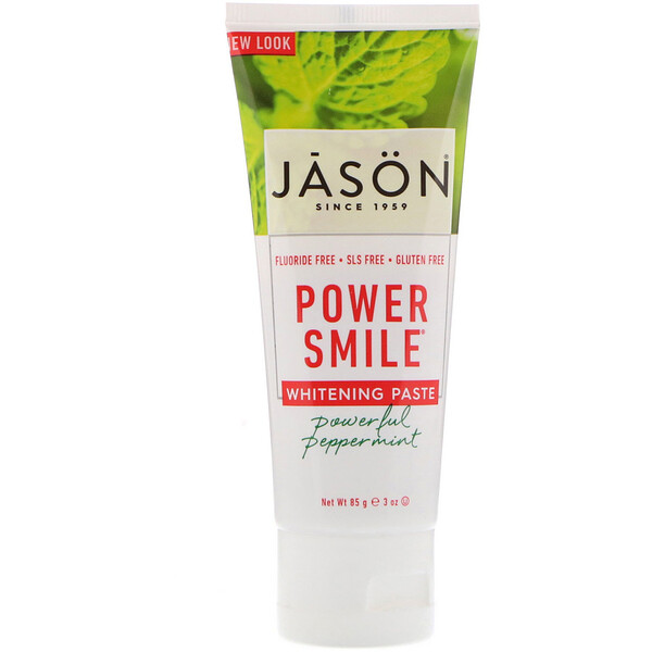 Jason Natural, Power Smile, pasta blanqueadora, menta potente, 3 oz (85 g)