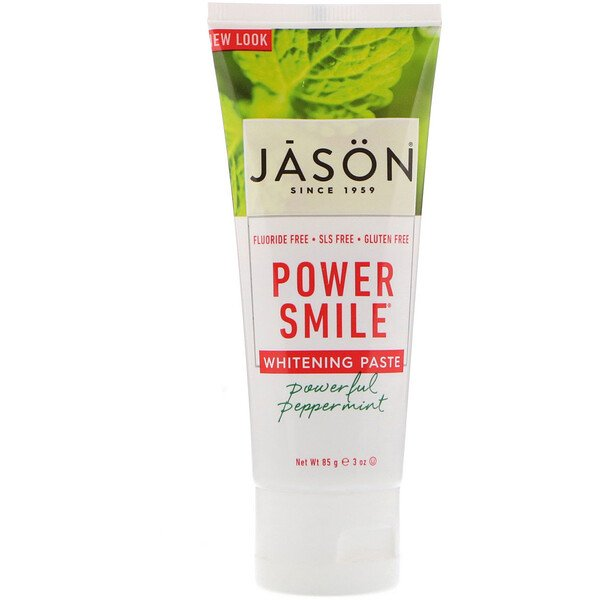 Jason Natural, Power Smile, pâte blanchissante, puissanment poivrée à la menthe , 3 oz (85 g)
