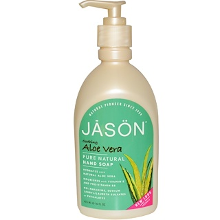 Jason Natural, Hand Soap, Soothing Aloe Vera, 16 fl oz (473 ml)