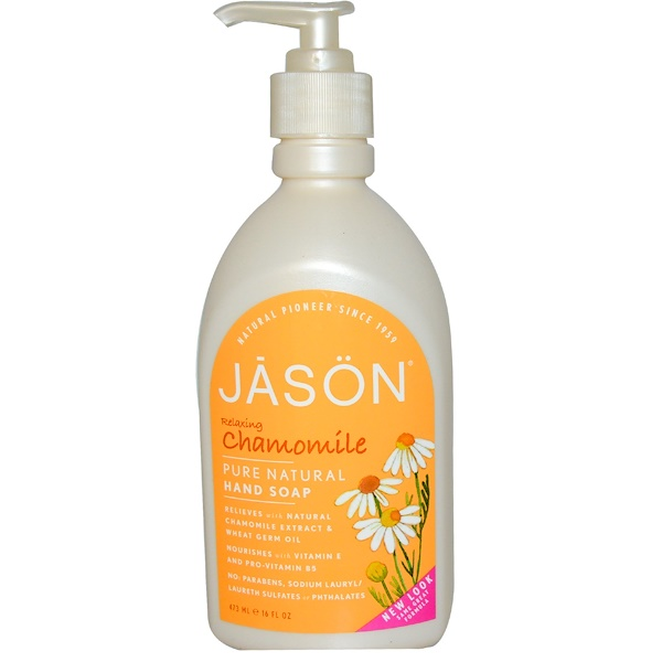 Jason Natural, Hand Soap, Relaxing Chamomile, 16 fl oz (473 ml) (Discontinued Item)