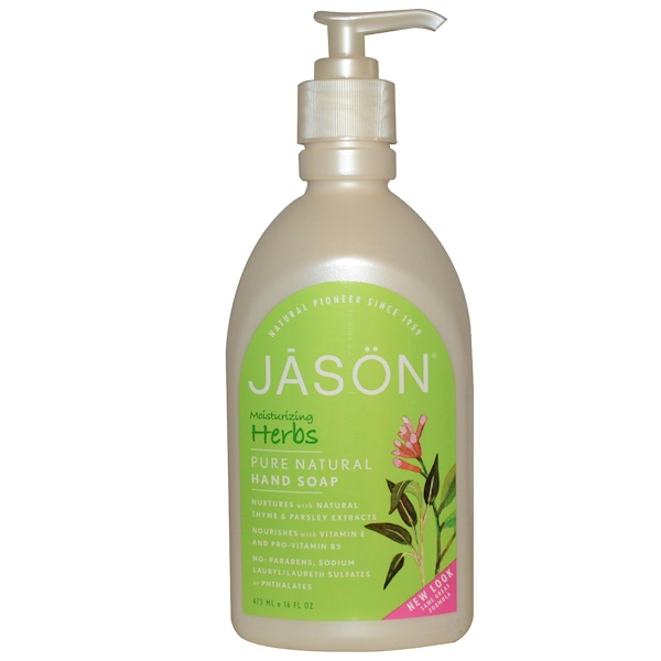 Jason Natural, Hand Soap, Moisturizing Herbs, 16 fl oz (473 ml) (Discontinued Item)
