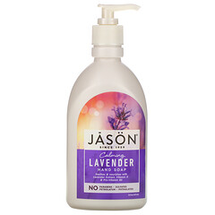 Jason Natural, 洗手液,舒緩薰衣花草味,16 液量盎司(473 毫升)