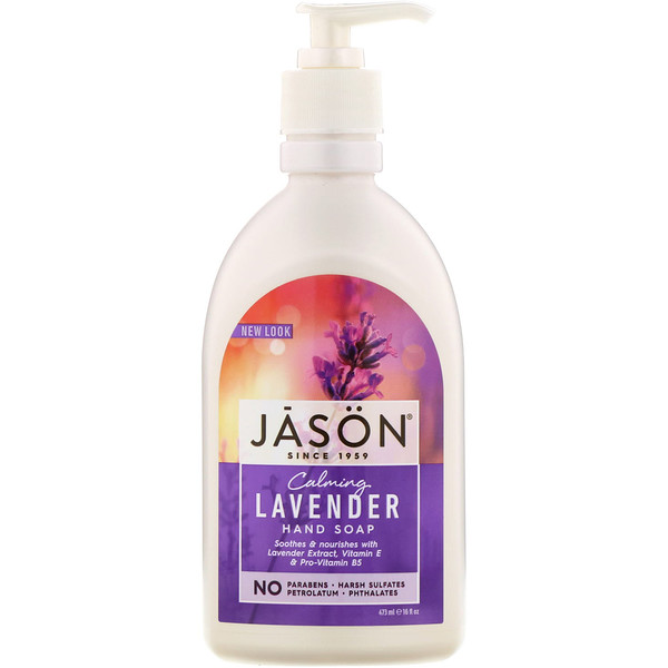 Jason Natural, Jabón para manos, lavanda tranquilizante, 473 ml (16 fl oz)