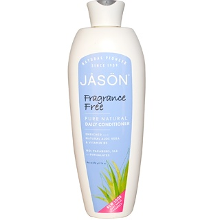 Jason Natural, Pure Natural Daily Conditioner, Fragrance Free, 16 oz (454 g)