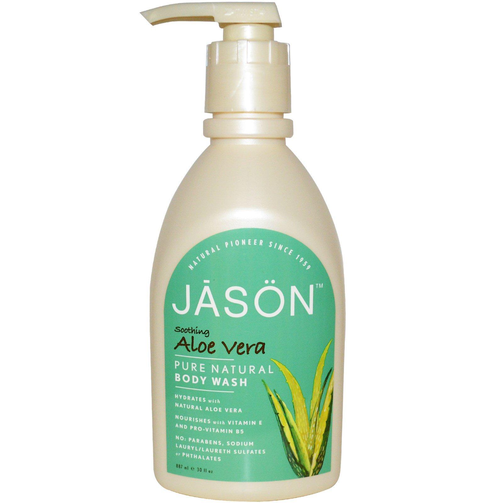 Jason Natural, Натуральный гель для душа, успокаивающий, алоэ вера, 30 жидких унций (887 мл)