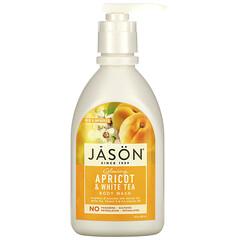 Jason Natural, 沐浴露,發光杏和白茶,30 液量盎司(887 毫升)