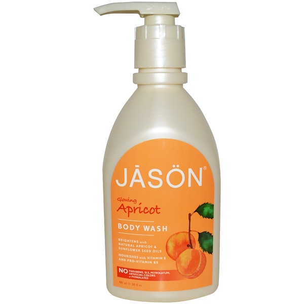 Jason Natural, Body Wash, Glowing Apricot, 30 fl oz (887 ml)