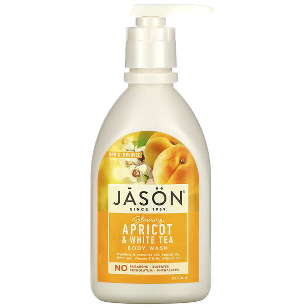 Body Wash, Glowing Apricot & White Tea, 30 fl oz (887 ml)