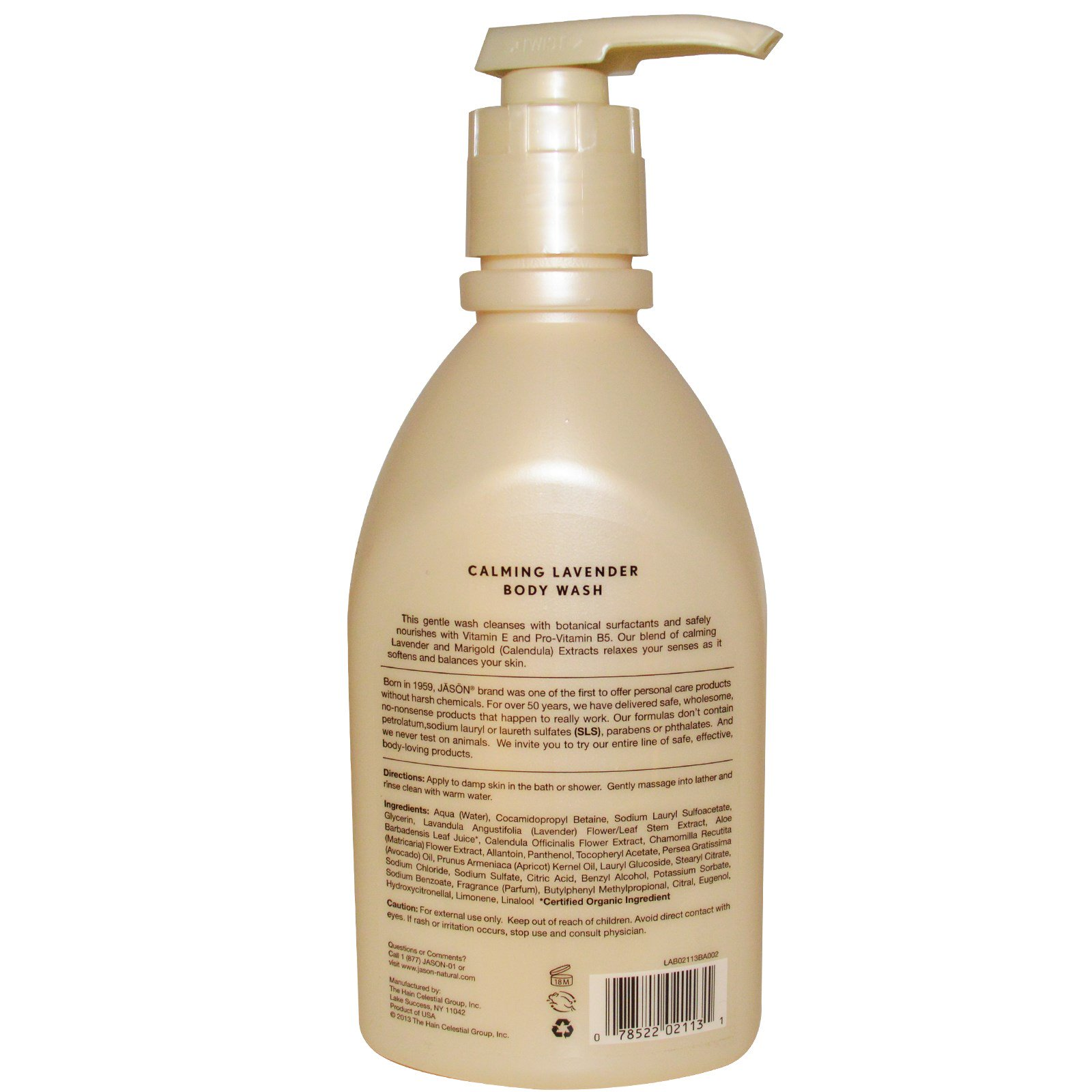 Jason Natural, Body Wash, Calming Lavender, 30 fl oz (887 ml
