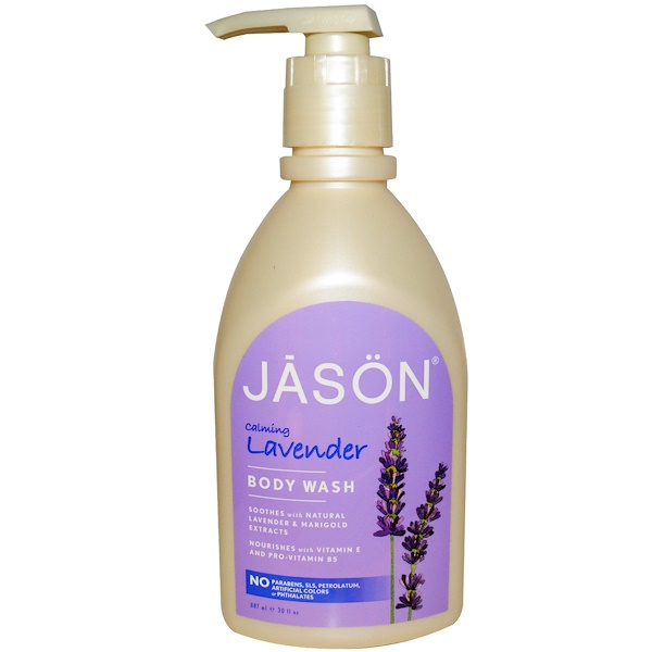 Jason Natural, Body Wash, Calming Lavender, 30 fl oz (887 ml)