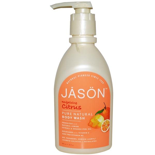 Jason Natural, 純天然沐浴露,恢復活力的柑橘,30液盎司(887毫升)