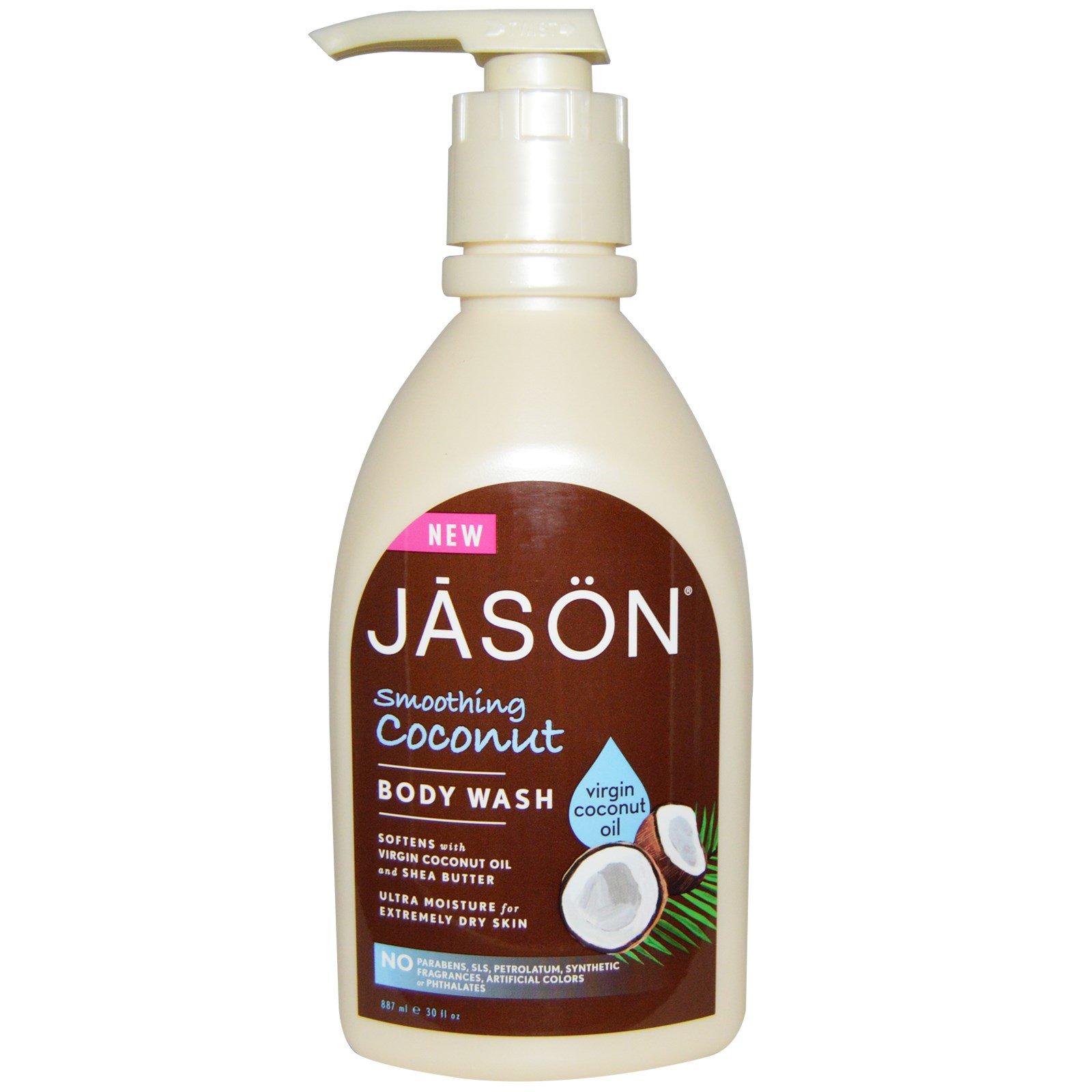 Jason Natural, Гель для душа, Смягчающий кокос, 30 жидких унций (887 мл)