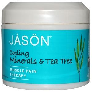 Джэйсон Нэчуралс, Muscle Pain Therapy, Cooling Minerals & Tea Tree, 4 oz (113 g) отзывы покупателей