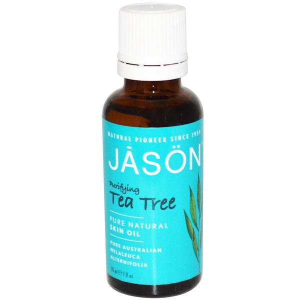 Jason Natural, Aceite de Árbol de Té Purificante para la Piel, 1 fl oz (30 ml)