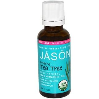 Jason Natural, 100% オーガニックオイル、ティーツリー、1 fl oz (30 ml)