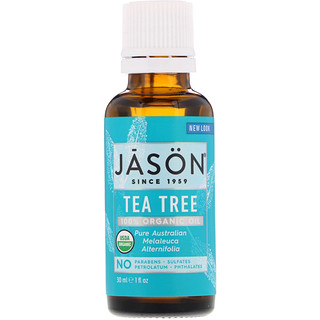 Jason Natural, Aceite 100% orgánico, Árbol de té, 1 fl oz (30 ml)