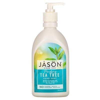 Купить Jason Natural Мыло для рук с очищающим маслом чайного дерева, 16 жидких унций (473 мл)
