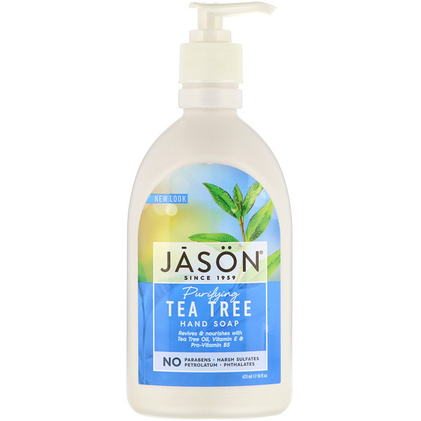 Jason Natural, Hand Soap, Purifying Tea Tree, 16 fl oz (473 ml)